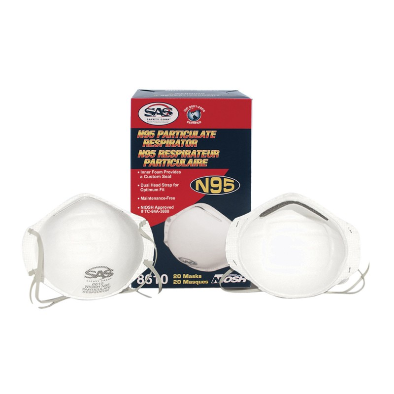 8610 Case Particulate 20 Masks 12 N95 Of Sas Boxes Respirator