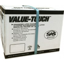 SAS VALUE-TOUCH Lightly Powdered Non-Exam Latex Gloves CASE (10 BOXES)