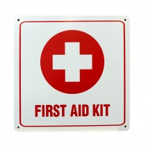 "First Aid Kit Sign (11""x11"")"